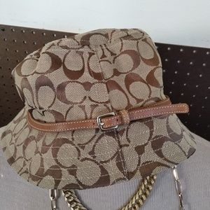 Coach Signature Bucket Hat Classic Monogram EUC